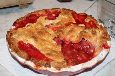 Strawberry rhubarb pie.