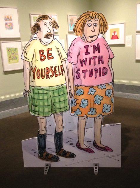 Roz Chast: Cartoon Memoirs, installation at the Norman Rockwell Museum, Stockbridge. Photo: Robert Ayers