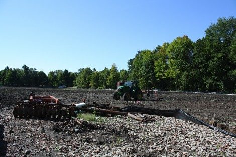 After the rains subsided last year, the tilling of the site resumed.