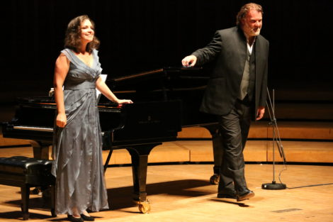 Bryn Terfel and accompanist Natalia Katyukova. Photo: Hilary Scott