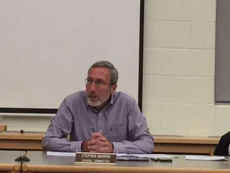 Berkshire Hills School Committee Chair Steve Bannon asks the committee for permission to respond to Lee Public Schools' announcement that they are open and willing to talk about collaboration. Photo: Heather Bellow