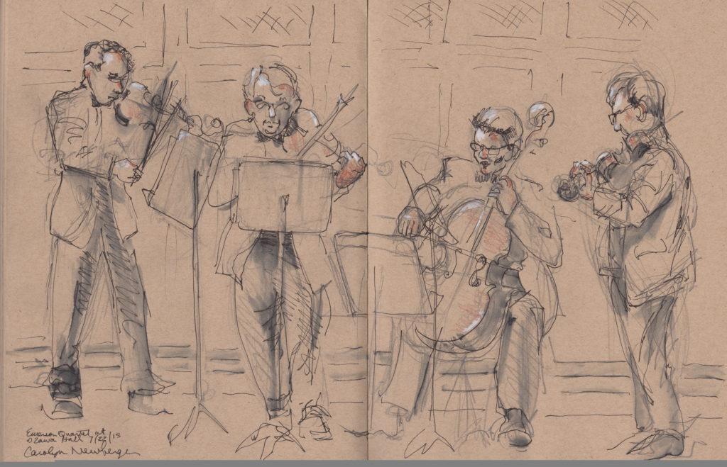 AT TANGLEWOOD: Paul Lewis, Emerson String Quartet extol