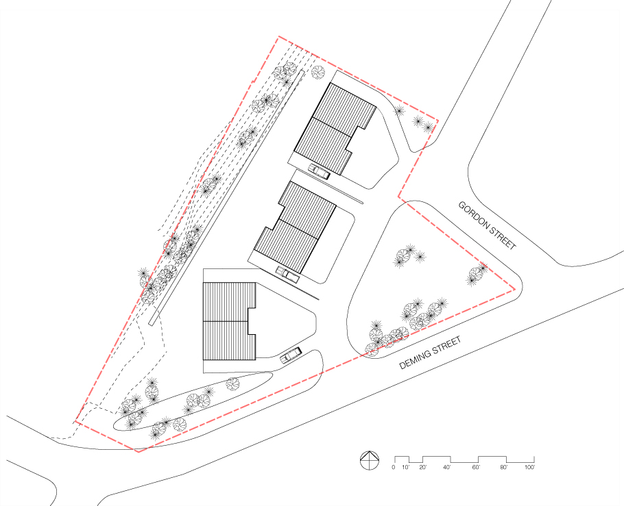Site Plan for the Gordon-Deming project in Pittsfield.