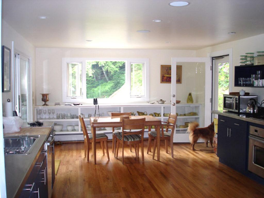 The kitchen after restoration.