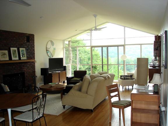 The living room after restoration.