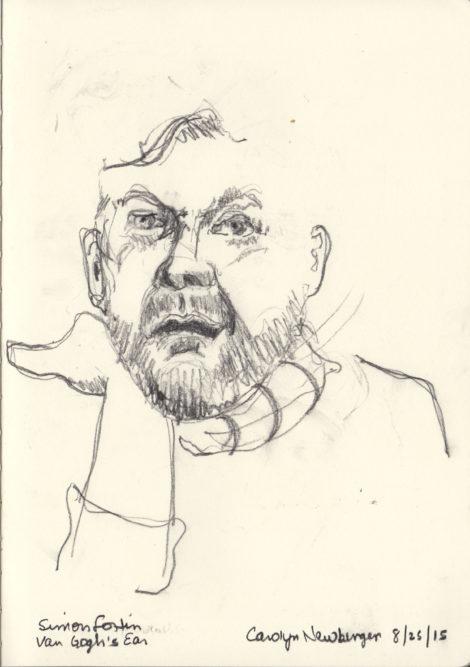 Simon Fortin in 'Van Gogh's Ear.' Illustration: Carolyn Newberger