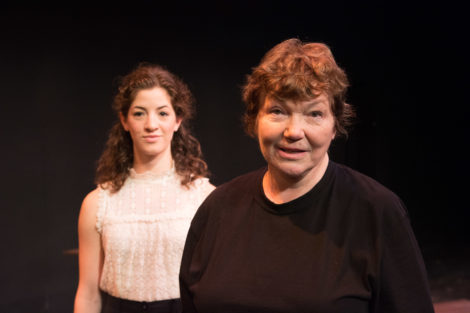 Anne Troup as Joan and Tina Packer as her mother, Isabelle Arc. Photo by Matthew Penn