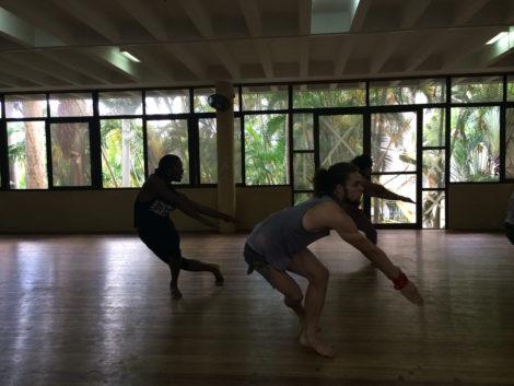 Danza Contemporania, The Modern Dance Company of Cuba, in rehearsal at their studio in Havana. Photo: John Aronoff