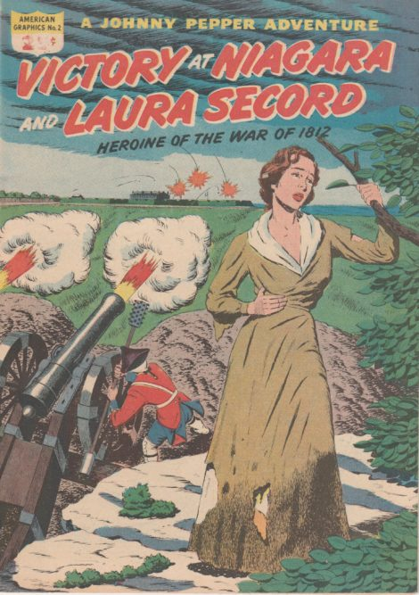 Great Barrington native Laura Secord is exhausted, having trekked miles to warn the British army of an impending attack, as depicted on the cover of American Graphics No. 2.