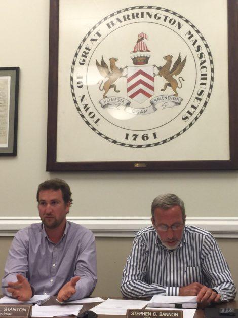 Sean Stanton, left, and Steve Bannon.