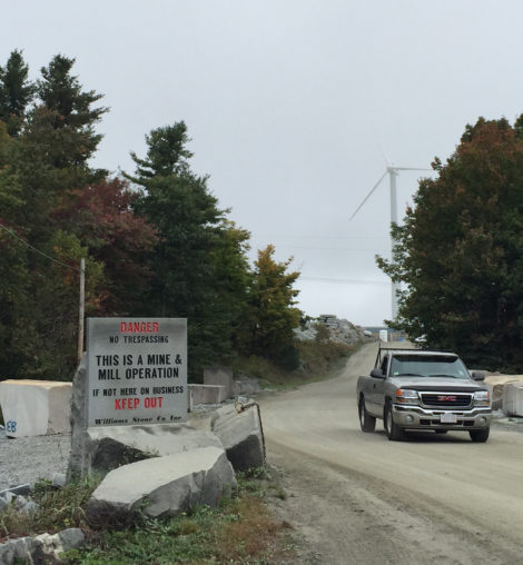 The entrance to the Williams Stone Company quarry in East Otis. Photo: Heather Bellow