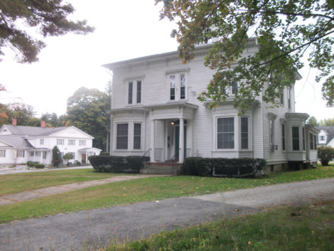 The Fassett house, which is about 130 years old, looks little different from when it was moved to this South Street location. (Bernard A. Drew photo)