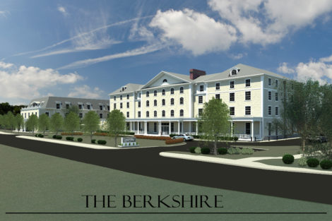 An early rendering of The Berkshire, the hotel proposed for the Searles School site.