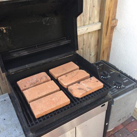 Gas grill pizza stones. Photo: Tim Eustis