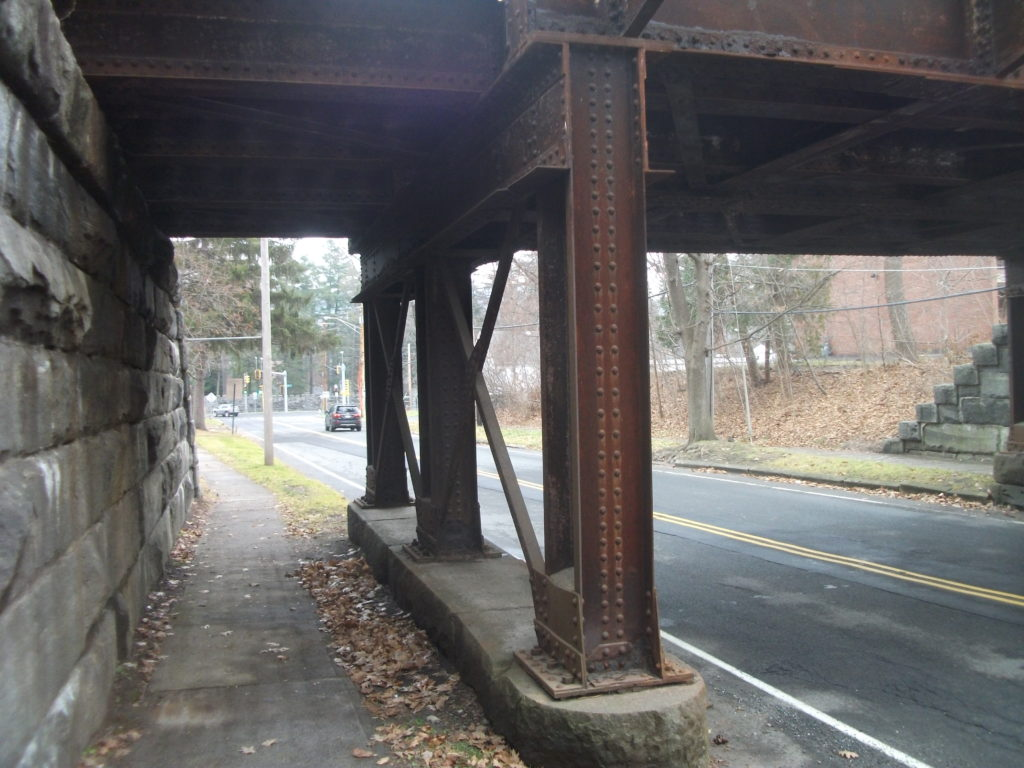 The St. James Place underpass has provided safe passage beneath the railroad track since 1901. Photo: Bernard Drew