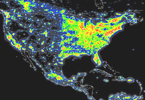 In The Field The Scourge Of Light Pollution - Us-dark-sky-map
