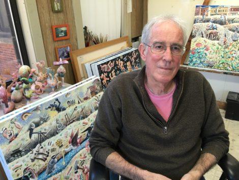 Morgan Bulkeley in his Great Barrington studio.
