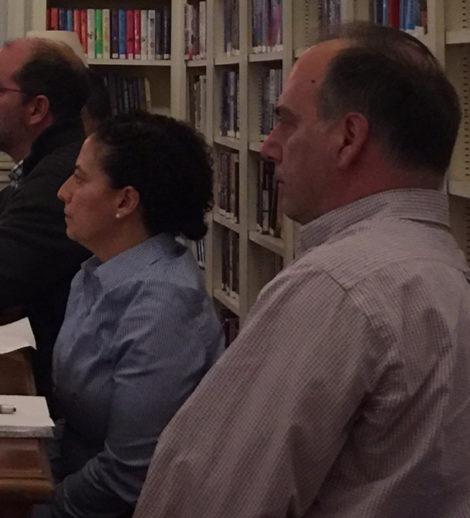 Mass DEP officials Eva Tor and John Ziegler. Photo: Heather Bellow