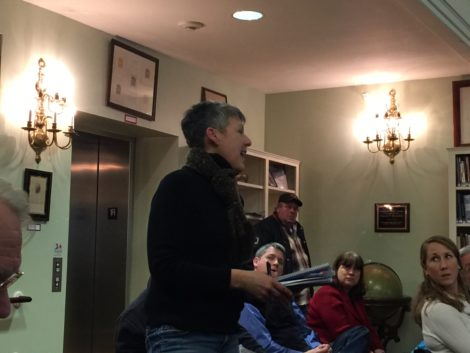 Housatonic resident Michelle Loubert, asking why Housatonic should be the site for a toxic waste landfill. Photo: Heather Bellow