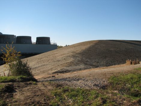 A closer view of Hill 78 in Pittsfield where over the years General Electric had deposited its most toxic waste, including PCBs. Photo: David Scribner
