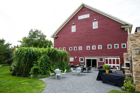 The outdoor grill at Gedney Farm welcomes guests in warmer weather. Photo: Eric Limon