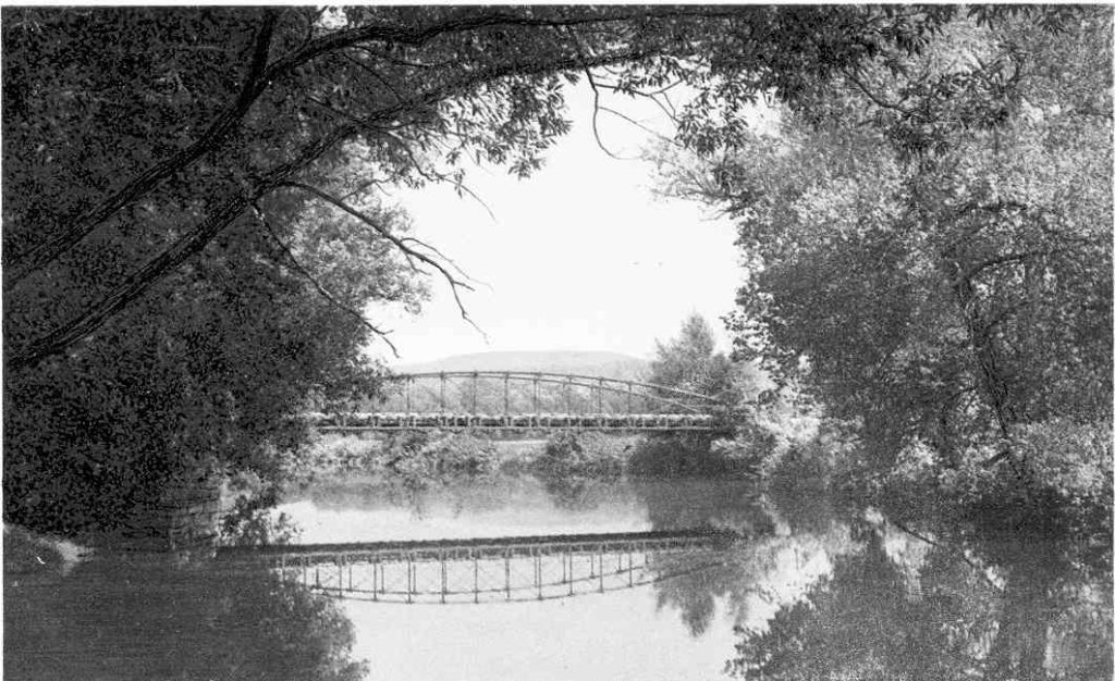 The old metal truss highway bridge at the Stockbridge Golf Course (8) was known as the Tuckerman Bridge. (Drew Collection)