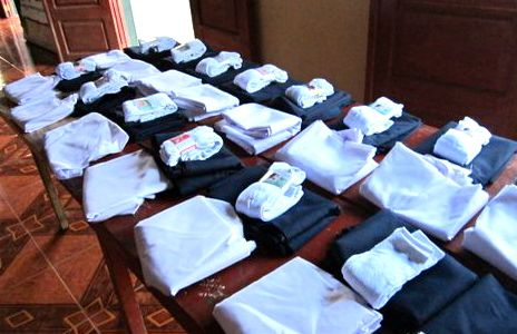 The project also supplies school uniform fabric and socks.