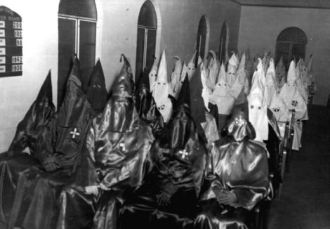 A rally of the Ku Klux Klan in St. Augustine, Florida, in 1964.
