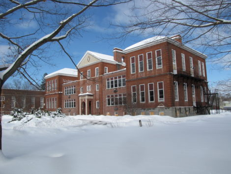 The Searles School, a surplus town property.