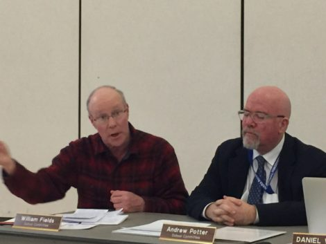School Committee members Bill Fields, left, and Andy Potter. Photo: Heather Bellow