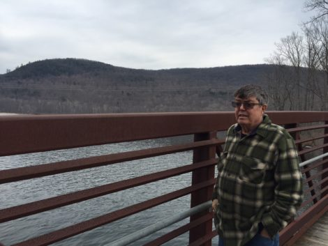 Housatonic River Initiative founder Tim Gray, at Woods Pond in the shadow of October Mountain. Photo: Heather Bellow