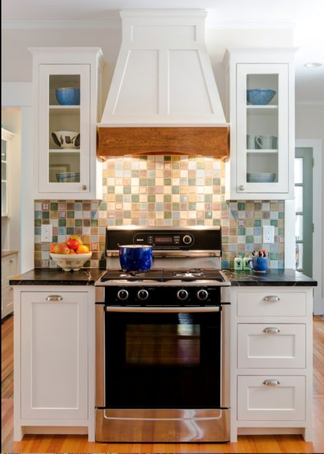 The new arrangement of the stove allows ample room for preparation. Photo: Greg Cherin