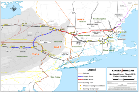 The Connecticut Extension is part of a network of natural gas pipelines intend ed to bring natural gas from the fracking fields of the Marcellus Shale in Pennsylvania to New England, both for consumption and export.