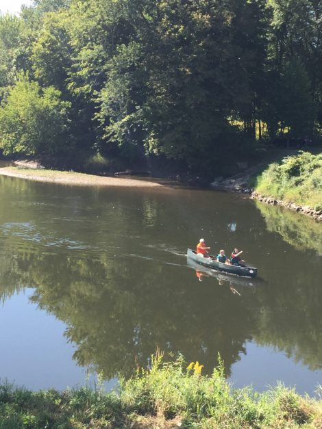 Canoeing in Sheffield on the Housatonic River, near the covered bridge.