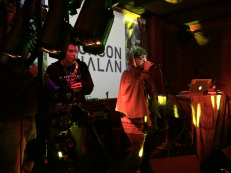 Whalan at the Brick House, with saxophonist Tyler Gasek. Photo: Isabella Goldman