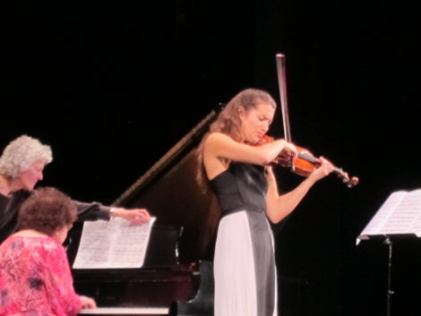 Violinist Sarah McElravy in a performance of Paul Ben-Haim's 'Berceuse Sfaratide' (Sephardic Lullaby).