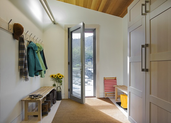 Tight fitting doors and thicker than normal walls increase the level of insulation. Photo: Eric Roth