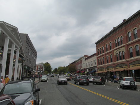Main Street in Lee, where inadequate water system infrastructure may jeopardize the Eagle Mill redevelopment. Photo: Heather Bellow