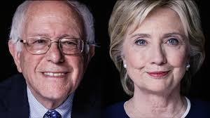 Sanders and Clinton, locked in a struggle for the Democratic Party.