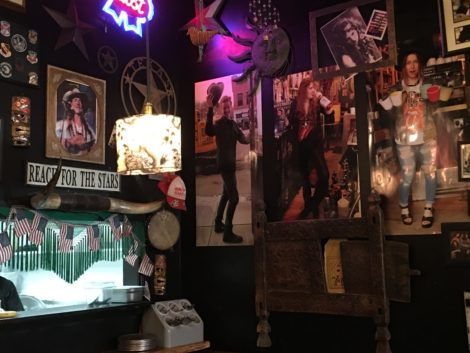A wall of photographs of the Weller family -- the gypsies of the Joynt. Photo: David Scribner
