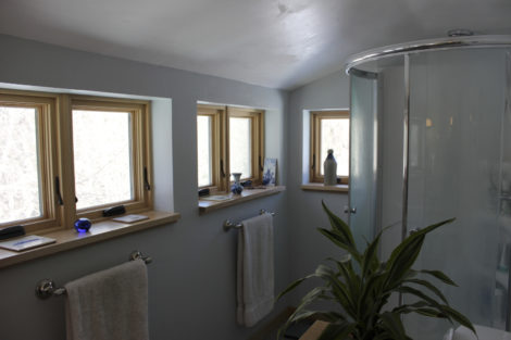 The finished master bathroom. Photo: Thomas RC Hartman