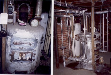 Boiler before and after asbestos abatement. Photo: Thomas RC Hartman