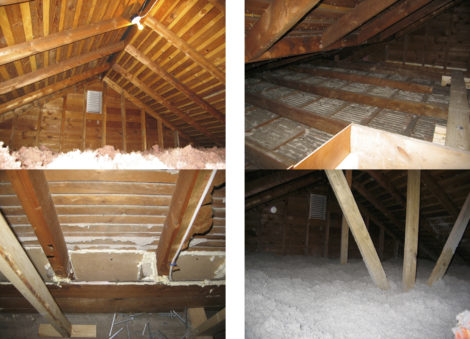 The attic work in 2008. Photo: Thomas RC Hartman