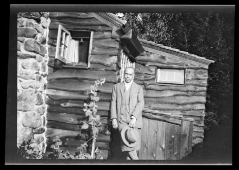 Black poet, songwriter and activist James Weldon Johnson enjoyed the seclusion of his small writing camp, located near the intersection of Alford and Seekonk roads. (Beineke Rare Book)