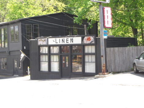 William Caligari Interior Design has expanded to a small building just south of its main building near the Brown Bridge, called Linen. (Bernard A. Drew photo 2016)