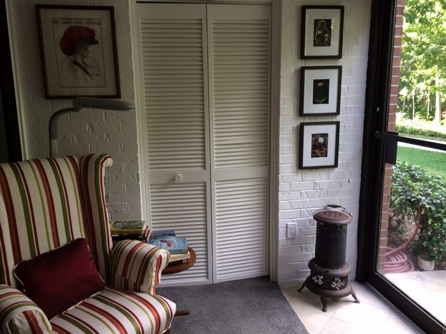 Mrs. M has a cozy reading nook in her new home, just as she had in her former home. Photo: Ron Buteau
