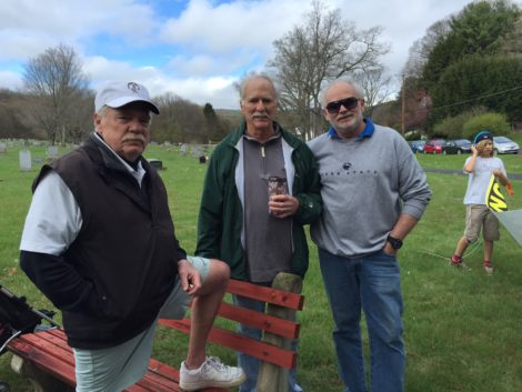 The DelMastro's whose family has suffered from exposure to PCBs in Pittsfield: from left, Louis DelMasto, Richard DelMasto, Peter DelMasto. Photo: Heather Bellow