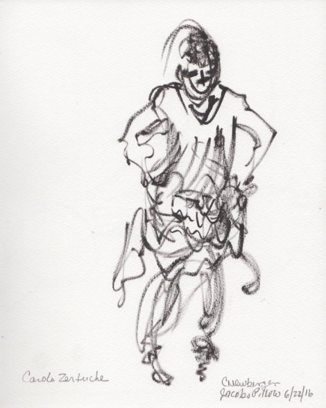 Carola Zertuche. Illustration by Carolyn Newberger