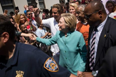Presidential candidate Hillary Clinton joined the Gay Pride march in New York City.