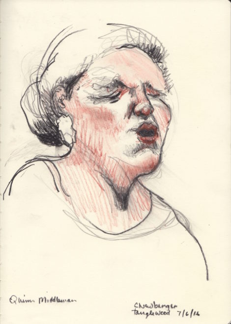 Mezzo-soprano Quinn Middleman. Illustration: Carolyn Newberger